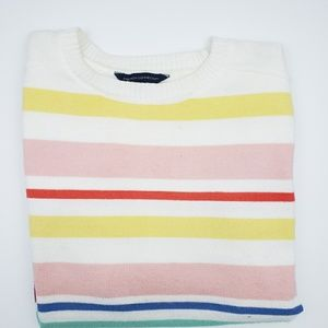 French Connection Rainbow Hi-Low Sweater